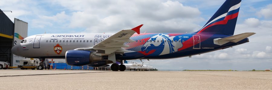 A320 with CSKA Moscow livery joins Aeroflot fleet