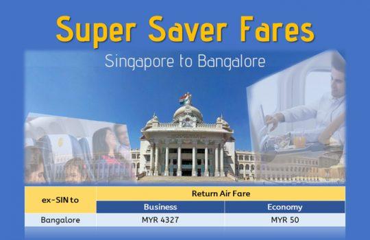 Super Saver Fare Singapore To Bangalore!