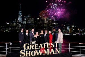 "Cunard hosts world premiere of ""The Greatest Showman"" on board flagship Queen Mary 2"