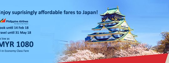Philippine Airlines Promotional Fares to Japan