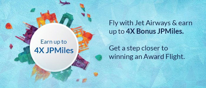 Fly with Jet Airways & Earn Up To 4X Bonus JPMiles