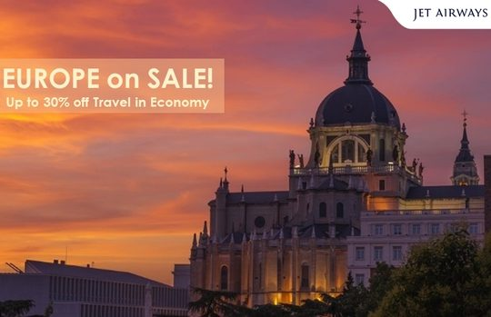 Enjoy up to 30% off in Economy on select flights to Europe