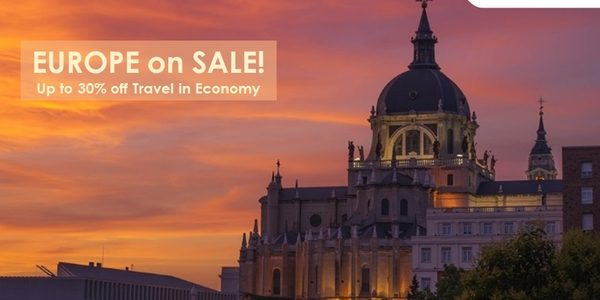 Jet Airways: Enjoy up to 30% off in Economy on select flights to Europe