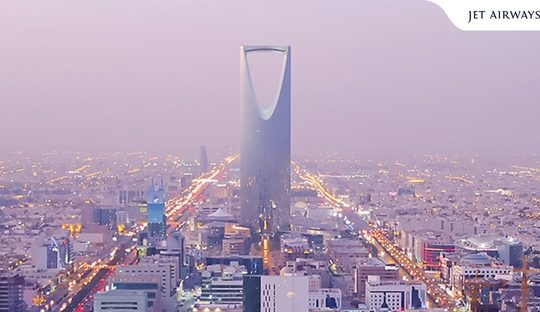 Fly to Riyadh today with Jet Airways