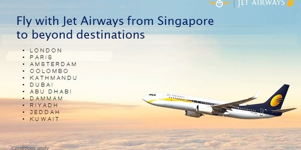 Jet Airways: Unbeatable Fares from Singapore !