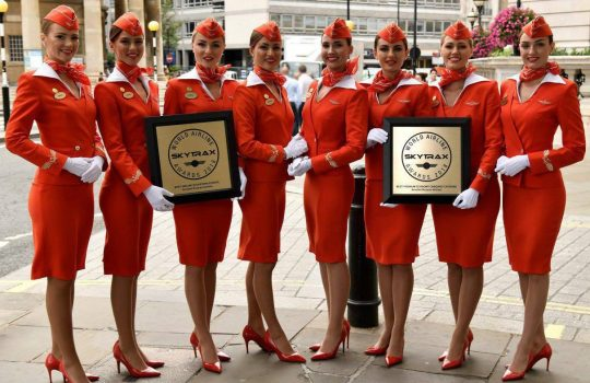 Aeroflot named Best Airline in Eastern Europe, premium economy onboard catering named best globally at Skytrax World Airline Awards