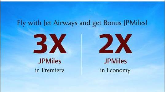 Miss Out On JPMiles Earning Opportunities with Jet Airways!