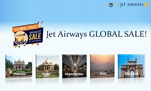 Year End Sale with Jet Airways GLOBAL SALE !