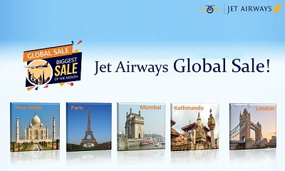 Jet Airways Global Sale up to 50%!