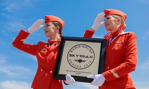 Aeroflot named Best Airline in Eastern Europe for eighth time at Skytrax World Airline Awards 2019