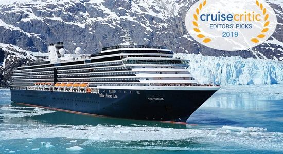 Holland America Line Named Tops for Dining, Itineraries and Entertainment in 2019 Cruise Critic Editors' Picks Awards