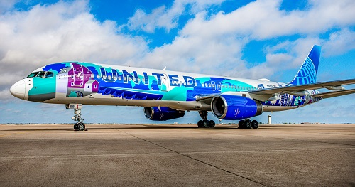 New York/New Jersey Her Art Here Themed Livery Takes Flight on United Airlines